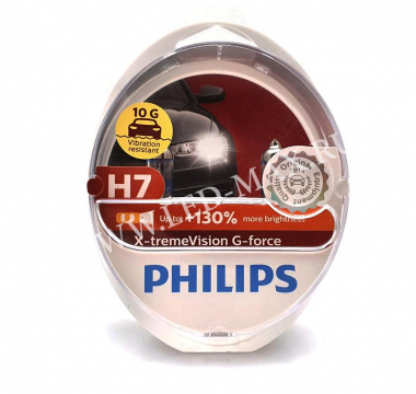 лампы H7 Philips X-tremeVision G-force +130%